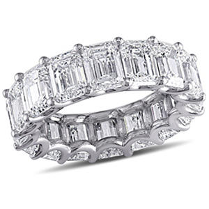11.5 CT. T.W. Emerald-Cut Diamond Eternity Wedding Ring in 18K White Gold