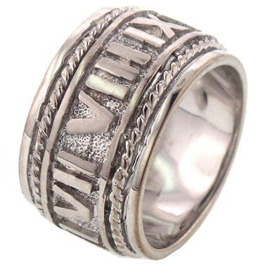 Roman Numeral Ring in Sterling Silver