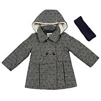 OshKosh Girls' Faux Wool Blend Coat