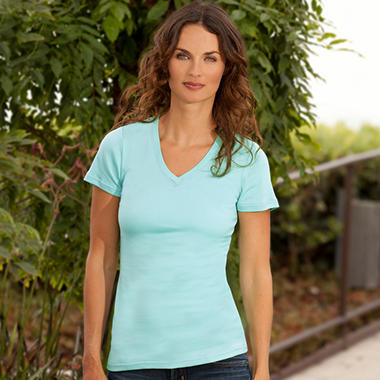 Short-Sleeve V-Neck Shirt - Various Colors