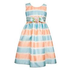 Jessica Ann Organza Stripe Dress