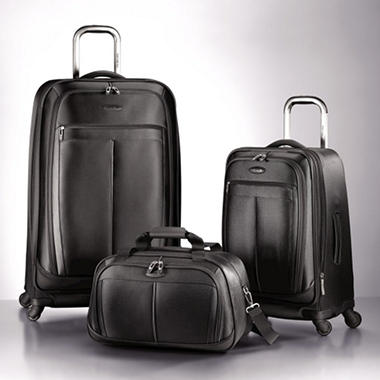 Samsonite 3 pc. Spinner Luggage Set - Black