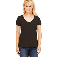 Eddie Bauer Ladies SS V-Neck (Assorted Colors)