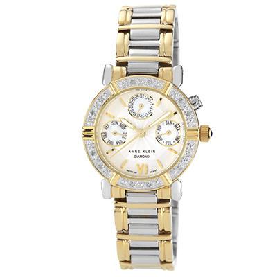 AK by Anne Klein Women's Diamond Accented Multi-Function Two-Tone Watch
