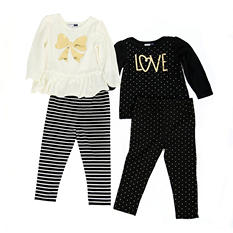 Vitamins Kids Girls' Love 4-Piece Mix and Match Set