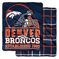 Denver Broncos Double-Sided Throw