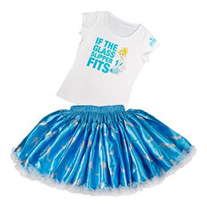 Disney Collection by Tutu Couture Cinderella 2-Piece Tee and Skirt Set