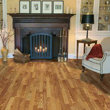 Traditional Living� Premium Laminate Flooring - Golden Amber Oakl; 8MM + 2MM Underlayment Thick - 1PK