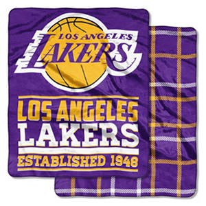 Los Angeles Lakers Double-Sided Throw