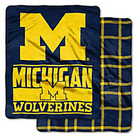 Michigan Wolverines Double-Sided Throw