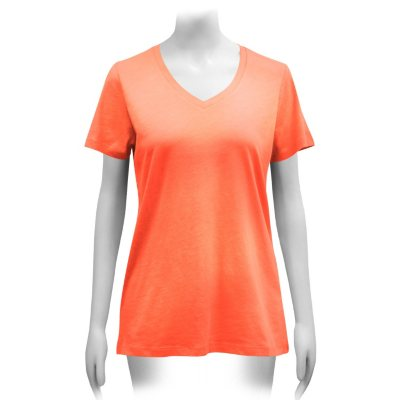 Ladies Short Sleeve V-Neck T-Shirt (Assorted Colors)