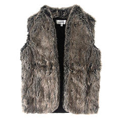 Sebby Ladies Faux Fur Vest (Assorted Colors)