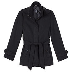 Nicole Miller Faux Wool Coat (Assorted Colors)