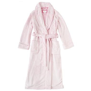 Ladies Soft Plush Robe (Assorted Colors)