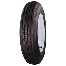 Greenball Tow-Master Trailer Tire & White Spoke Wheel (Various Options)
