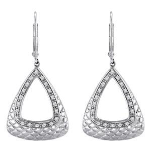 0.25 CT. T.W. Diamond Triangle Hoop Earrings in Sterling Silver (H-I, I1)