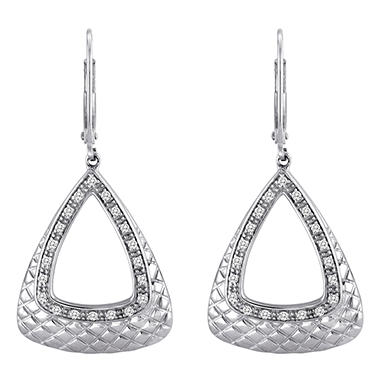 0.25 CT. T.W. Diamond Triangle Earrings in Sterling Silver (H-I, I1)