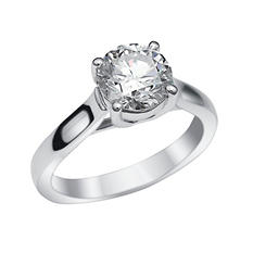 2.01 CT. Round Brilliant Lab-Grown Diamond Solitaire Engagement Ring in 18K White Gold (H,VS2)