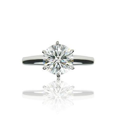 2.12 ct. Round Brilliant-Cut Diamond Solitaire Ring (I, VS1)