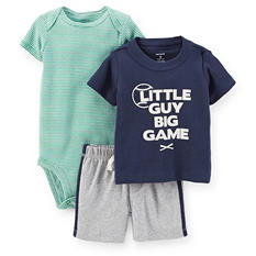 Boys' 3pc. Bodysuit, T-Shirt and Shorts Play Set