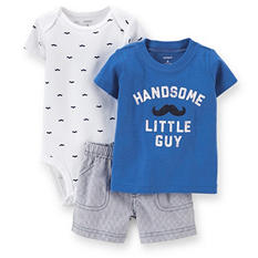 Boys' 3pc. Bodysuit, T-Shirt and Shorts Play Set