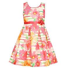 Girl's Flower Print Spring Dress