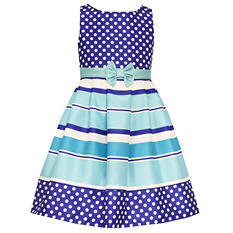 Girl's Stripe Navy Spring Dress