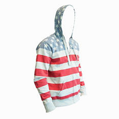 American Republic Stars and Stripes Fleece Hooded Jacket