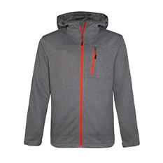 Men's Marled Fleece Hooded Jacket