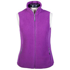 Tangerine Jacquard Fleece Vest (Assorted Colors)
