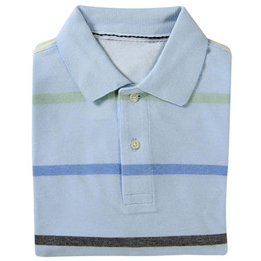 Designer Oxford Polo - Blue Striped