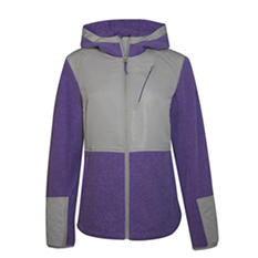 Ladies Fleece Hooded Jacket (Assorted Colors)