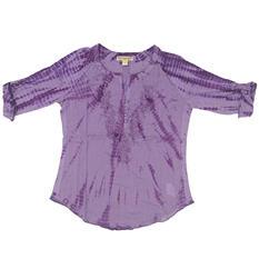 Ladies Tie Dye Woven Top (Assorted Colors)