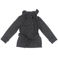 Sebby Ladies Fleece Trench Coat