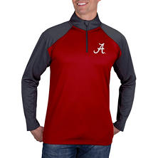 Alabama Crimson Tide, NCAA Men's Athletic Quarter-Zip Fitness Jacket