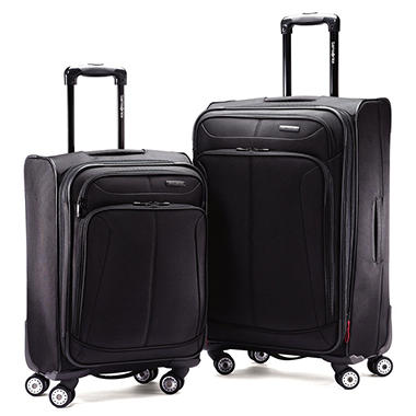 Samsonite 2-Piece 360 Spinner Set, Black  70553-1041