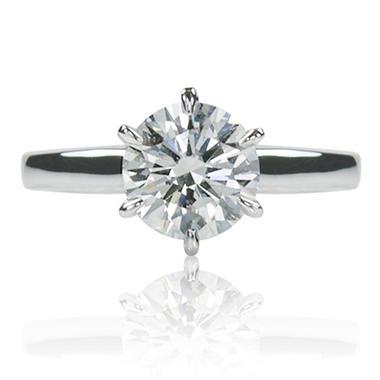 1.50 ct. Brilliant Round Cut Diamond Platinum Solitaire Ring (F, VS2)