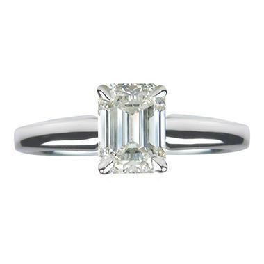 1.01 ct. Emerald Cut Diamond 14k White Gold Solitaire Ring (G, VVS2)