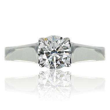 1.19 ct. Brilliant Round Cut Diamond Platinum Solitaire Ring (I, SI1)
