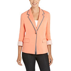 Ellen Tracy LS Ponte Blazer (Assorted Colors)