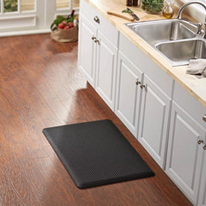 Basketweave Memory Foam Kitchen Mat (Assorted Colors)