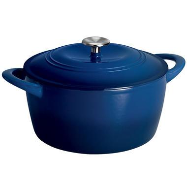 Tramontina 6.5 Quart Covered Enameled Cast Iron Dutch Oven - Blue