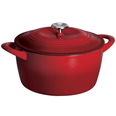 Tramontina 6.5 Quart Covered Enameled Cast Iron Dutch Oven - Red