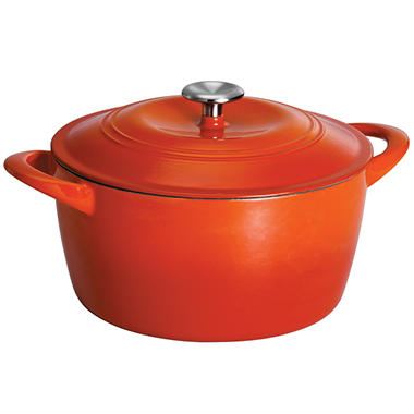 Tramontina 6.5 Quart Covered Enameled Cast Iron Dutch Oven - Orange