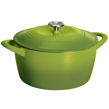 Tramontina 6.5 Quart Covered Enameled Cast Iron Dutch Oven - Green