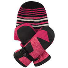 Free Country Kids' Hat and Mitten Set