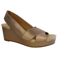 Ladies See Side Stretch Wedge Sandal (Assorted Colors)