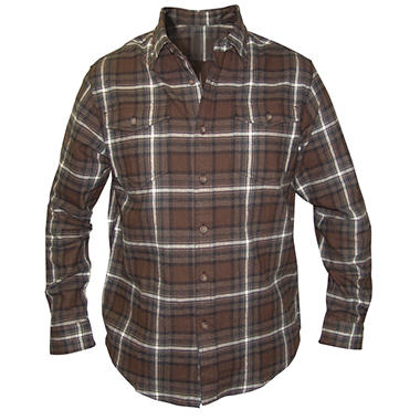 Plaid Long Sleeve Flannel Shirt - Various Colors