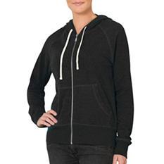 Eddie Bauer Ladies Raglan Sleeve Front Zip Hoodie (Assorted Colors)
