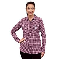 Eddie Bauer Flannel Button Ladies Shirt